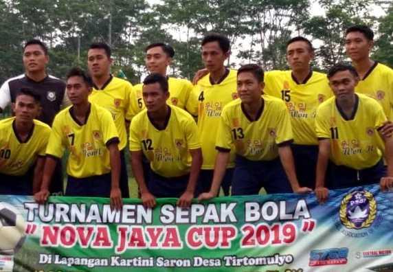 NIOR FC DESA JATI MEMBUKTIKAN KEMAMPUANNYA SEBAGAI JUARA I DALAM BABAK FINAL TURNAMEN NOVA JAYA CUP 2019