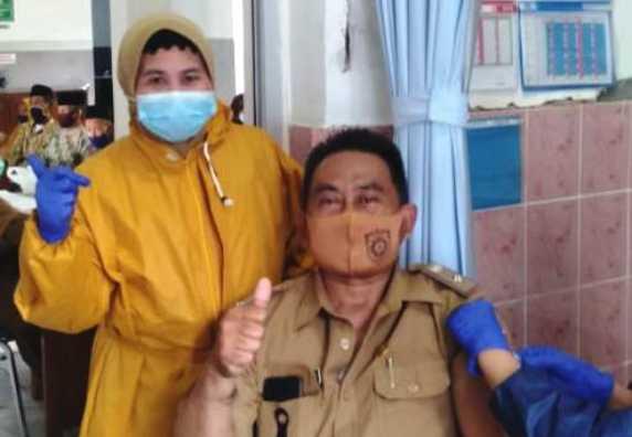 Vaksinasi Desa Jati dihari kedua